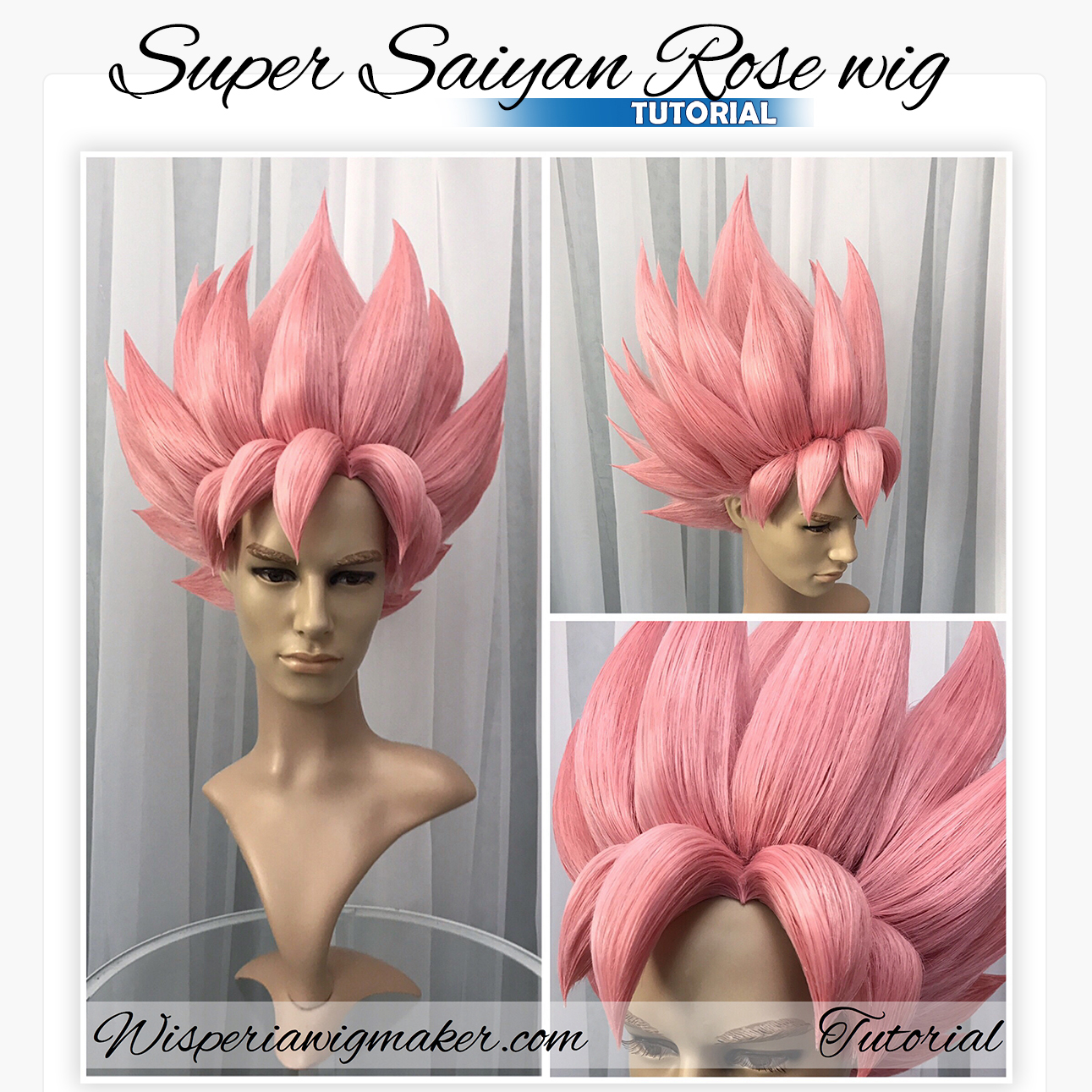 Super Saiyan Rose wig tutorial – Wisperia Workshop 5ff39b704ee5